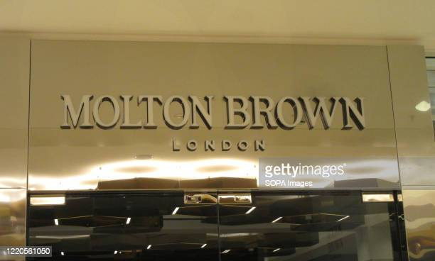 Molton Brown logo seen at one of their branches.
