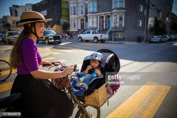 Mom and Baby Cycling in San Francisco