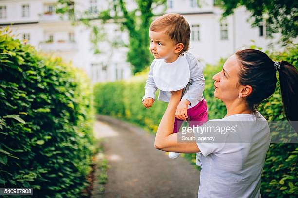 Mom and child fun time