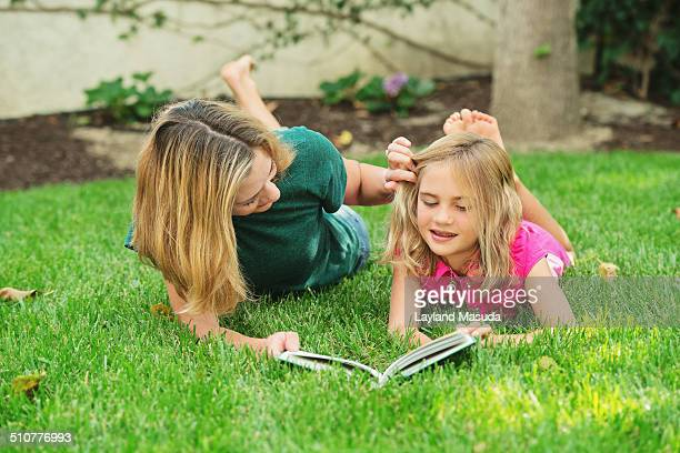 Mom and daughter Oreading