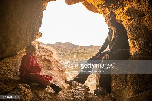 Moeder en zoon High Desert