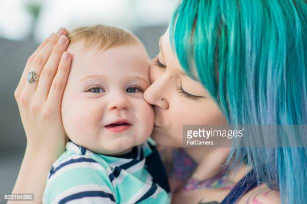 mom and son - women's issues stock photos and pictures