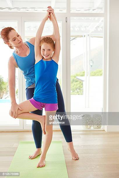 Mom is the best yoga teacher!