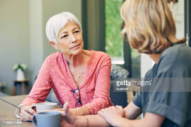 mom will always be there to listen - serious stock pictures, royalty-free photos & images