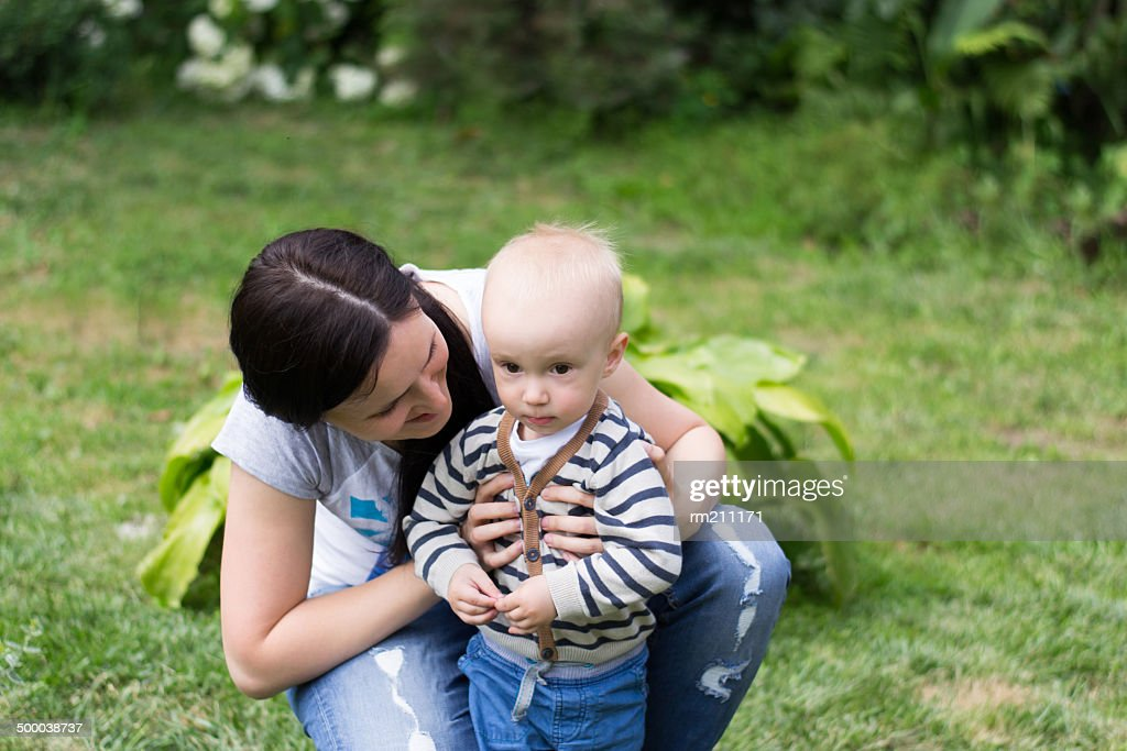 Mom With Boy Stock Photo