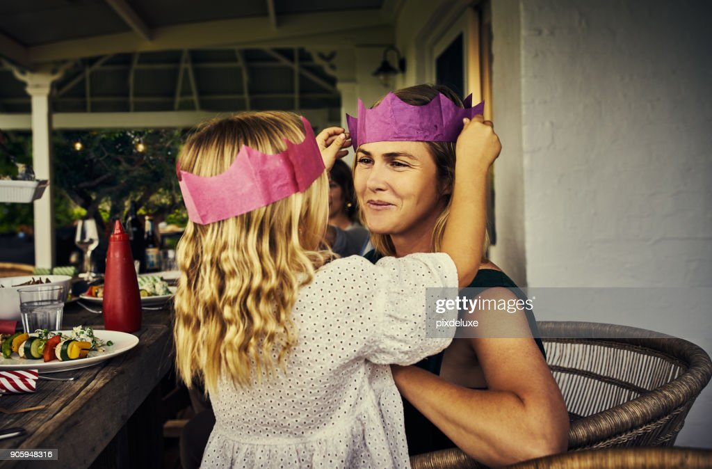 Mom, you're my Queen : Stock Photo