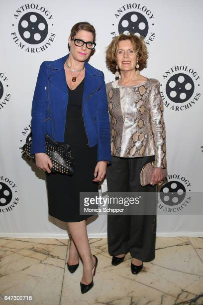 MoMA's Cerrie Bamford and guest attend The Anthology Film Archives Benefit and Auction on March 2 2017 in New York City