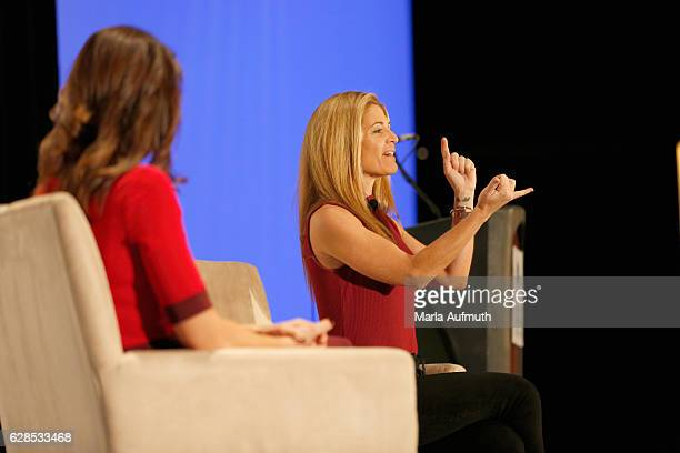 Momasterycom founder and author Glennon Doyle Melton speaks onstage during the Massachusetts Conference for Women at Boston Convention Exhibition...