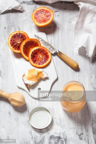 Momenade blood orange curd in a glass