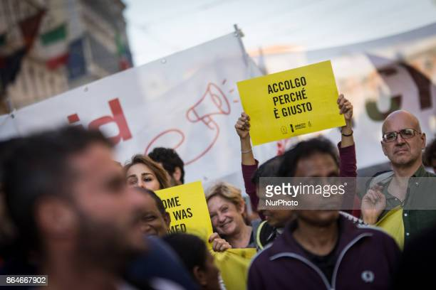 A moment of quotIt is not a crimequot promigrants and against racism demonstration organized by a number of leftist organizations including labor...