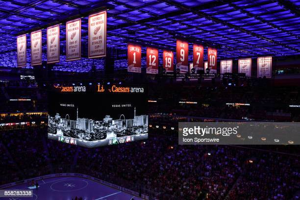 A moment of silence to honor the fallen from the attack in Las Vegas during the Detroit Red Wings game versus the Minnesota Wild on October 5 at...