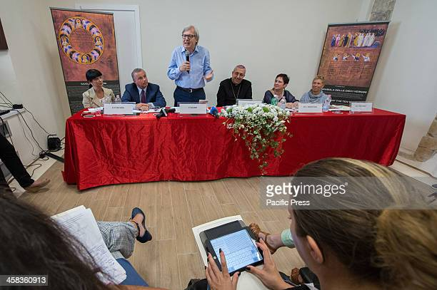 A moment of the press conference for the return of the Purpureus Codex In October 2015 it was recognized as a World Heritage Site by Unesco and...