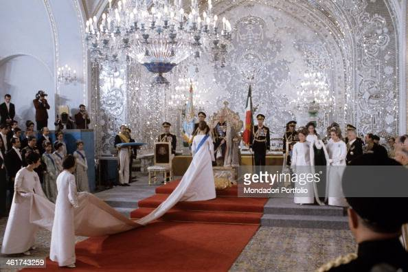 The coronation of farah pahlavi pictures getty images for Shah bano farah pahlavi