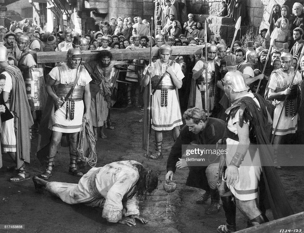 Dramatic Scene from Ben-Hur : News Photo