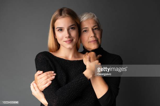 moment with mother - beautiful grandmothers stock pictures, royalty-free photos & images