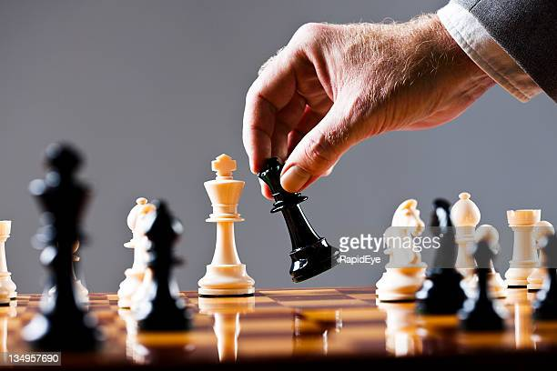 Moments before checkmate in game of chess