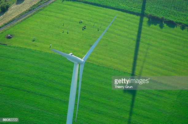 momerstroff wind farm in moselle, lorraine, france - moselle france stock pictures, royalty-free photos & images