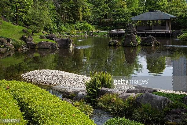 Momijiyama Garden is located near the ruins of Sunpu Castle in Shizuoka Garden of the Village is made up of various flowers plants and a wooden...