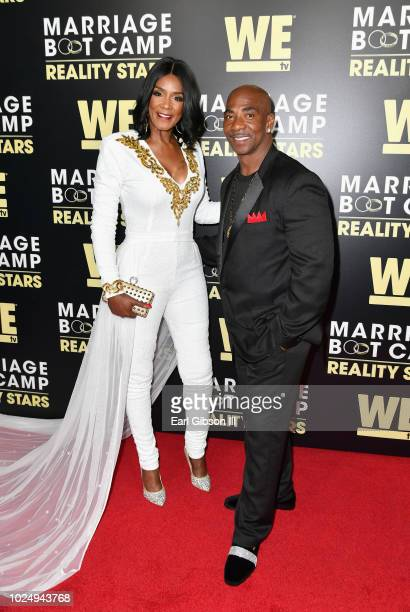 Momma Dee and Ernest Bryant attend the premiere of WE tv's Marriage Boot Camp Reality Stars at HYDE Sunset Kitchen Cocktails on August 28 2018 in...