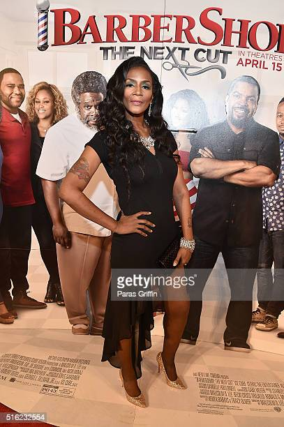 Momma Dee attends the Barbershop THE NEXT CUT Atlanta VIP Screening at Regal Atlantic Station on March 17 2016 in Atlanta Georgia