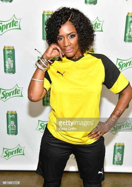 Momma Dee attends the Celebrity Dodgeball Game at 2018 BET Experience Fan Fest at Los Angeles Convention Center on June 22 2018 in Los Angeles...
