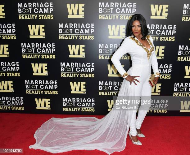 Momma Dee attends the premiere of WE tv's Marriage Boot Camp Reality Stars at HYDE Sunset Kitchen Cocktails on August 28 2018 in West Hollywood...