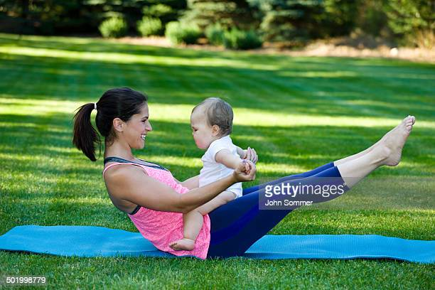 Mommy and Son fitness time