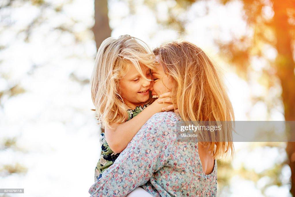 Mami liebt dich Kiddo : Stock-Foto