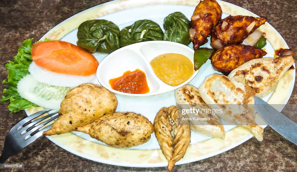 Momo is a type of South Asian dumpling. Native to Tibet, Nepal. : Stock Photo