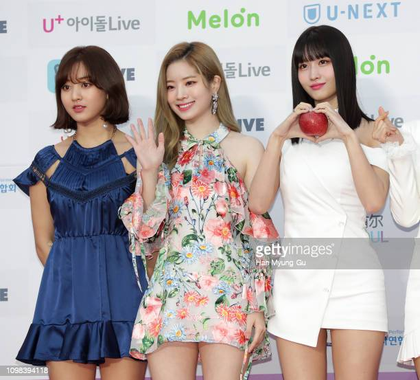 MoMo of girl group TWICE attends the 8th Gaon Chart K-Pop Awards on January 23, 2019 in Seoul, South Korea.