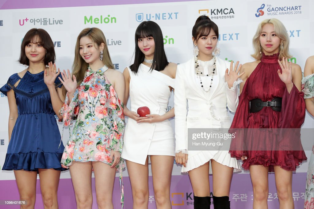 MoMo of girl group TWICE attends the 8th Gaon Chart K-Pop