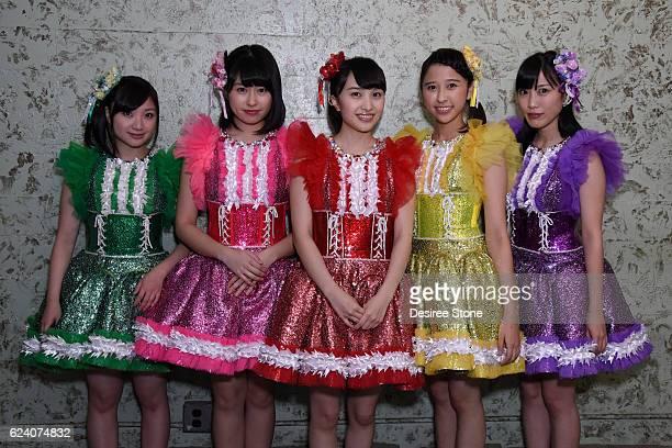 Momoka Ariyasu Ayaka Sasaki Kanako Momota Shiori Tamai and Reni Takagi of Momoiro Clover Z appear at The Wiltern on November 17 2016 in Los Angeles...
