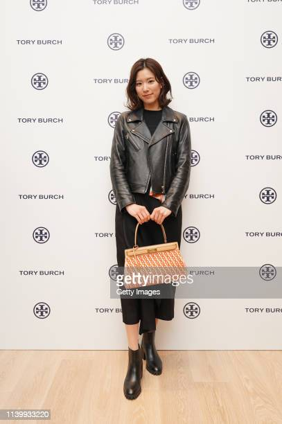 Momoka Fukawa attends the Tory Burch Ginza Boutique Opening on April 02 2019 in Tokyo Japan