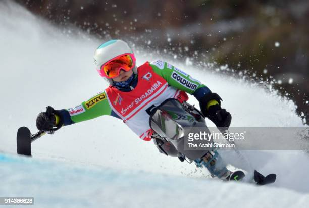 Momoka Muraoka competes in the Women's Giant Slalom Sitting during day one of the Japan Para Alpine Skiing Championships at Sugadaira Pine Beak Ski...
