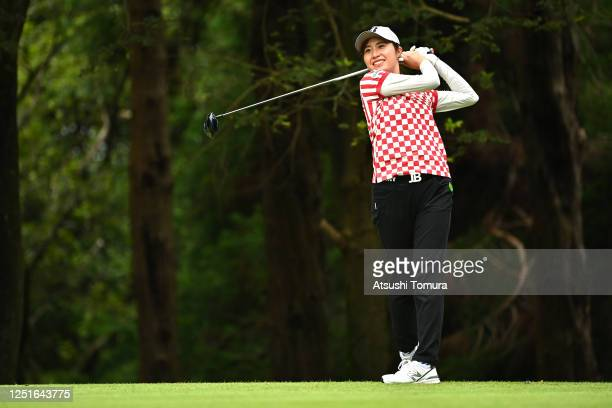 Momoko Osato of Japan hits her tee shot on the 12th hole during the practice round ahead of the Earth Mondamin Cup at the Camellia Hills Country Club...