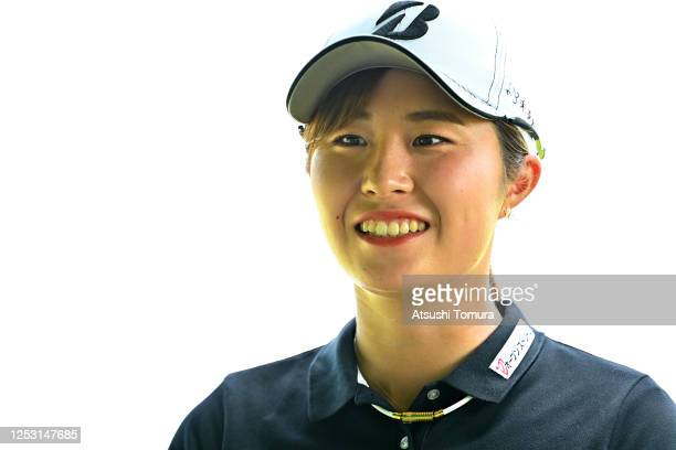 Momoko Osato of Japan is seen on the 1st tee during the final round of the Earth Mondamin Cup at the Camellia Hills Country Club on June 29 2020 in...