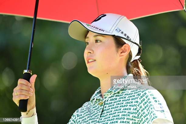 Momoko Osato of Japan is seen on the 7th hole during the second round of the Nitori Ladies Golf Tournament at the Otaru Country Club on August 28...