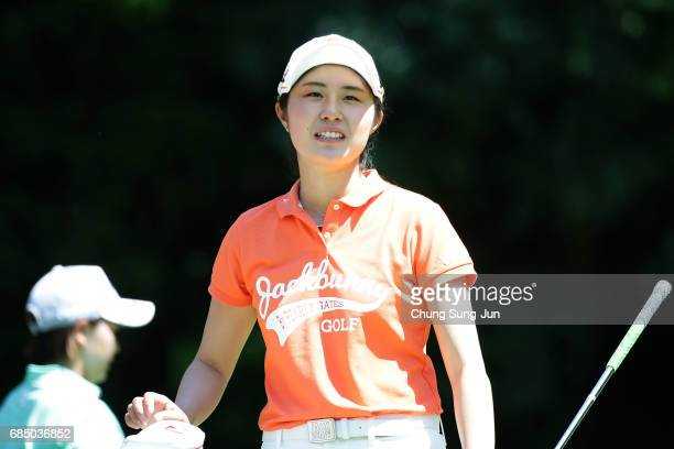 Momoko Osato of Japan on the fifth hole of first round during the Chukyo Television Bridgestone Ladies Open at the Chukyo Golf Club Ishino Course on...