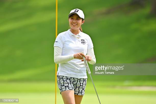 Momoko Osato of Japan smiles on the 17th green during the third round of the Earth Mondamin Cup at the Camellia Hills Country Club on June 27 2020 in...
