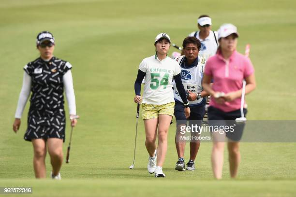 Momoko Osato of Japan walks to the 18th green during the second round of the Resorttust Ladies at Kansai Golf Club on May 26 2018 in Miki Hyogo Japan