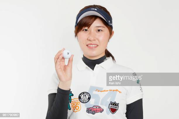 Momoko Osato poses for photographs during the Japanese LPGA portrait session on February 27 2018 in Nanjo Okinawa Japan