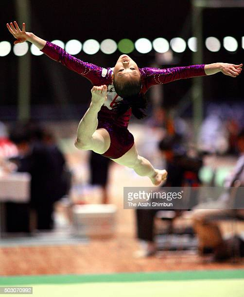 Momoko Ozawa competes in the Floor apparatus final during day three of the 60th All Japan Artistic Gymnastics Championships at Yoyogi National...