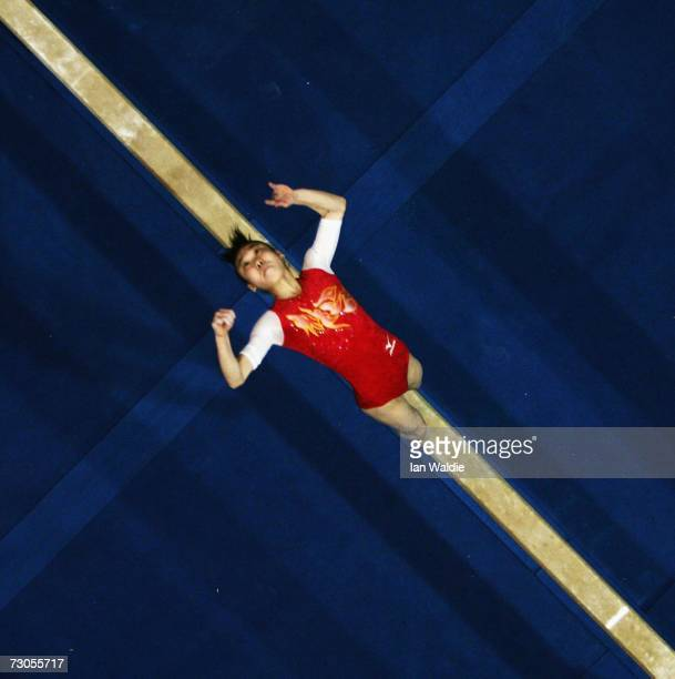 Momoko Ozawa from Japan performs on the beam during the girls Artistic Gymnastics event at the Australian Youth Olympic Festival January 21 2007 in...