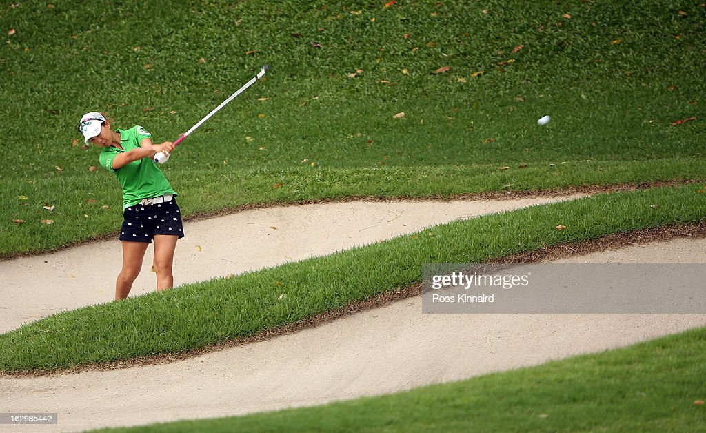 Momoko Ueda of Japan during the final round of the HSBC Women's Champions at the Sentosa Golf Club on March 3, 2013 in Singapore, Singapore.