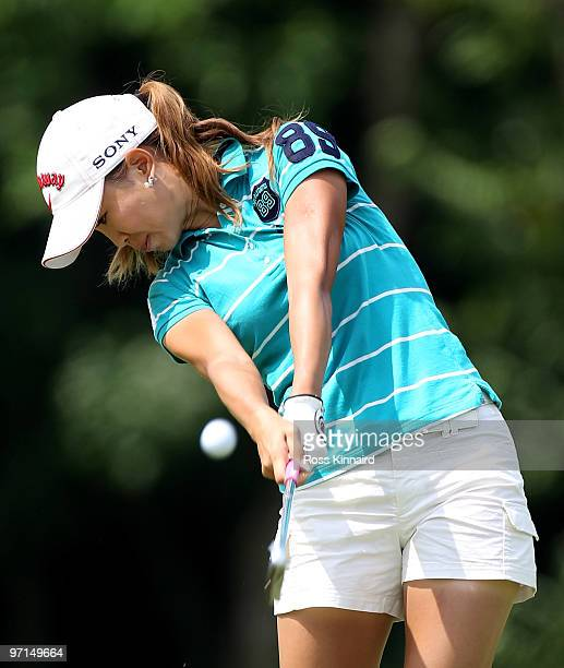 Momoko Ueda of Japan during the final round of the HSBC Women's Champions at the Tanah Merah Country Club on February 28 2010 in Singapore