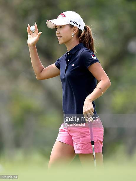 Momoko Ueda of Japan during the third round of the HSBC Women's Champions at the Tanah Merah Country Club on February 27 2010 in Singapore