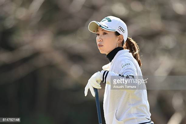 Momoko Ueda of Japan looks on during the first round of the Yokohama Tyre PRGR Ladies Cup at the Tosa Country Club on March 11 2016 in Konan Japan