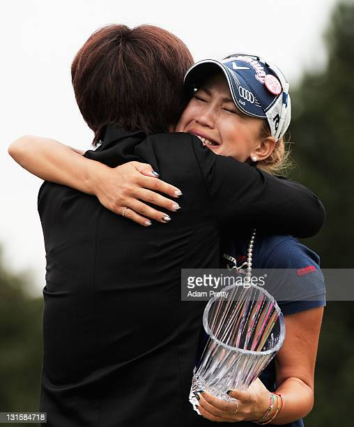 Momoko Ueda of Japan sheds a tear while celebrating victory after the 3rd playoff hole in the final round of the Mizuno Classic at Kintetsu...
