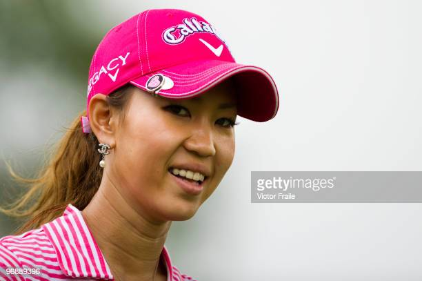 Momoko Ueda of Japan smiles on the 3rd hole during round three of the Honda PTT LPGA Thailand at Siam Country Club on February 20 2010 in Chon Buri...