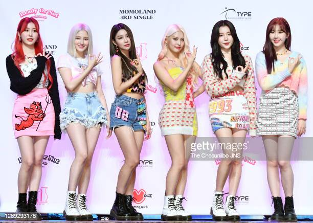Momoland during a Momoland's the third single album 'Ready or Not' release showcase at Yes24 live hall on November 17, 2020 in Seoul, South Korea.